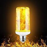 Flamme Glühbirne, Flamme Licht LED Lampe Flamme, Flackerlicht E27 mit 3 Modi Feuer Effect...