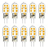 KINGSO 10 Pack G4 LED Leuchtmittel Warmweiß 3W 250lm Ersatz für 25W Halogenlampen 12V...