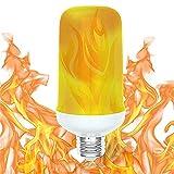 Flamme Lampe,E26 / E27 / B22 LED Birne, 7W mit 4 Modi Feuer Effect,Flackernde Flamme...