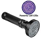 Veetop UV Taschenlampe, Schwarzlichtlampe mit 100 UV-LEDs und 395nm, superstrahlend,...