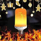 Led Glühbirne, LIFU Flamme Lampe Flackerlicht E27 Flimmer Feuer Birne 1500K Leuchtmittel...
